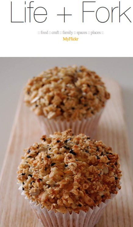 Carrot _ Apple _ Pecan Muffins with a crunchy... - Life + Fork